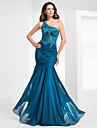 Formal Evening / Military Ball Dress - Vintage Inspired / Elegant Plus Size / Petite Trumpet / Mermaid One Shoulder Floor-lengthChiffon /