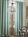 Două Panouri Tratamentul fereastră Modern , Solid Sufragerie In Artificial Material perdele, draperii Pagina de decorare For Fereastră