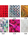 1PCS Laser Foil Nail Decorations Starry Nail Stickers No.43-48(130x4.5x0.1cm,Assorted Colors)