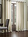 Två paneler Fönster Behandling Modern , Solid Vardagsrum Faux Linne Material gardiner draperier Hem-dekoration For Fönster
