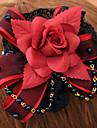 Bijoux Gothique Coiffure Lolita Rouge / Noir Lolita Accessoires Casque Fleur Pour Hommes / Femme Coton