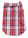 Dog Shirt / T-Shirt / Shirt / Clothes/Clothing Red / Blue Spring/Fall Plaid/Check