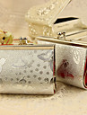 6 Piece/Set Favor Holder - Creative Metal Favor Bags Silver Butterfly Print Purse