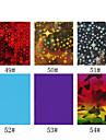 1pcs folha de laser decoracoes de unhas unhas estrelados adesivos no.49-54 (130x4.5x0.1cm, cores sortidas)