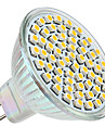 3W GU5.3(MR16) LED-spotlights MR16 60 SMD 3528 250 lm Varmvit DC 12 V