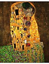 Kyssen av Gustav Klimt berömda konsttryck