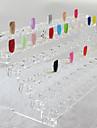 72 Conseils Nail Art Conseils Affichage d\'ABS de stand en plastique transparent (31x12x11cm)