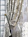 deux panneaux michelle Luxury® faux jacquard de soie floral de rideaux traditionnelle