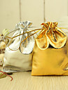 Metallic Drawstring Wedding Favor Bag – Set of 12 (More Colors)