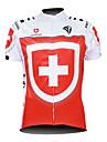 KOOPLUS® Maillot de Cyclisme Homme Manches courtes Velo Respirable / Zip etanche / Zip frontal / Vestimentaire Maillot / Hauts/Tops100 %