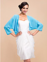 Wedding  Wraps Coats/Jackets Long Sleeve Chiffon Sky Blue Wedding / Party/Evening T-shirt Open Front