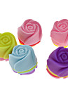 Rose en forme de silicone colore Mini petit gateau moule (20pcs)