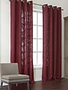 (Två paneler) enastående polyester / bomull blandning moderna miljövänliga gardin