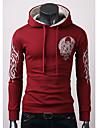 Contrairement impression couleur hoodie des hommes