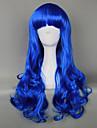 Royal Blue Gothic Lolita lockig peruk