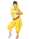 Belly Dance Outfits Children\'s Performance Chiffon Draped Sequins 3 Pieces Natural Top Pants Headpieces