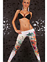Women Print Legging , Polyester/Spandex Medium