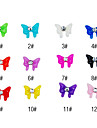 20PCS 3D resine strass bowknot Nail Decorations Cartoon No.1 (couleurs assorties)