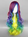 Rock Drottning Rainbow Shine 70cm Punk Lolita Peruk