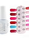 YeManNvYou®1PCS Sequins UV Color Gel Nail Polish No.13-24 Soak-off(15ml,Assorted Colors)