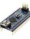 Nano V3.0 AVR ATmega328 P-20AU modulkretskort och USB-kabel till Arduino blå och svart