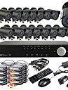 Ultra DIY 16CH Real Time H.264 CCTV DVR Kit (16pcs 420TVL Vandtæt Night Vision CMOS-kameraer)