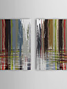 Hand Painted Oil Painting Abstract with Stretched Frame Set of 2 1308-AB0715