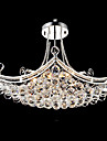 Max 40W Modern/Contemporary Crystal Electroplated Metal Pendant Lights Living Room / Bedroom / Dining Room