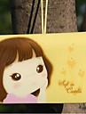 kaka flicka kreditkortshållare (slumpmässig färg, för 12 kort)