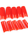500PCS Rouge Pure Color francais plein de bouts d\'ongle de couverture