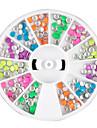 12 Färg Mini Rivet Nail Art Decoration
