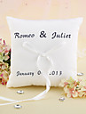 Personalizado Elegant Wedding Ring Pillow com fita