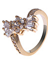 S & V Kvinnors 18K Rose Gold Plating zirkon ring BBR-00270_1