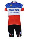 Kooplus Maillot et Cuissard de Cyclisme Unisexe Manches courtes Velo Maillot Cuissard  / Short Ensemble de VetementsSechage rapide