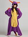 Kigurumi Pijamale Dinosaur Leotard/Onesie Festival/Sărbătoare Sleepwear Pentru Animale Halloween Mov Peteci Coral Fleece Kigurumi Pentru