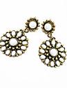 Bohemian style large flowers inlaid stone earrings Korean version of the tassel fashion earrings E201