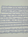 Nummer och bokstav Shape Frill Cutter Embossing Gum Paste Mögel Set av 6 st