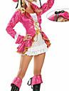 Cosplay Kostymer/Dräkter / Festklädsel Pirat Festival/Högtid Halloween Kostymer Rosa Spets Kappa / Klänning / Hatt Halloween Kvinna