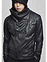 Noir coreenne Casual Slim Fit Personnalite veste en cuir REVERIE UOMO hommes