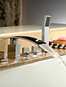 Bathtub Faucet - Contemporary - Waterfall / Handshower Included - Brass (Chrome)
