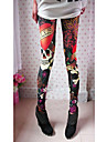 Women\'s Skull Print Elastic Leggings