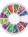 YeManNvYou®12 Mixed Pattern 6-color Rivet Nail Art Decorations