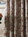 deux panneaux michelle Luxury® pays branches de fleurs economie d\'energie rideau drape