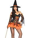 Costumes de Cosplay / Costume de Soiree Sorcier/Sorciere Fete / Celebration Deguisement Halloween Blanc / Noir / Jaune / OrangeCouleur