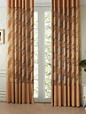Two Panels  Michelle Luxury® Modern Sloping Curve Sheer Curtain Drape
