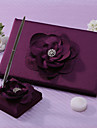 Lalic Wedding Guest Book And Pen Set With Flower Sign In Book