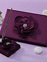 Lalic carte de oaspeti de nunta si stilou set cu semnul de flori în carte