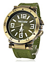 Men's Watch Military Green Bronze Silicone Strap Wrist Watch Cool Watch Unique Watch Fashion Watch