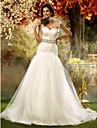 Trumpet/Mermaid Plus Sizes Wedding Dress - Ivory Court Train Sweetheart Tulle