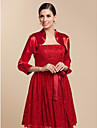 Wedding / Party/Evening Stretch Satin Coats/Jackets 3/4-Length Sleeve Wedding  Wraps